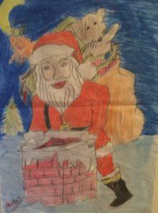 frohe-weihnachten-gemaltes-bild